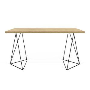 Pracovní stůl Flow, dub + černá podnož