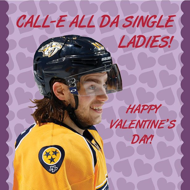 Predators Valentines Day Cards Nashville Predators Fan Zone – Hockey Valentines Day Cards