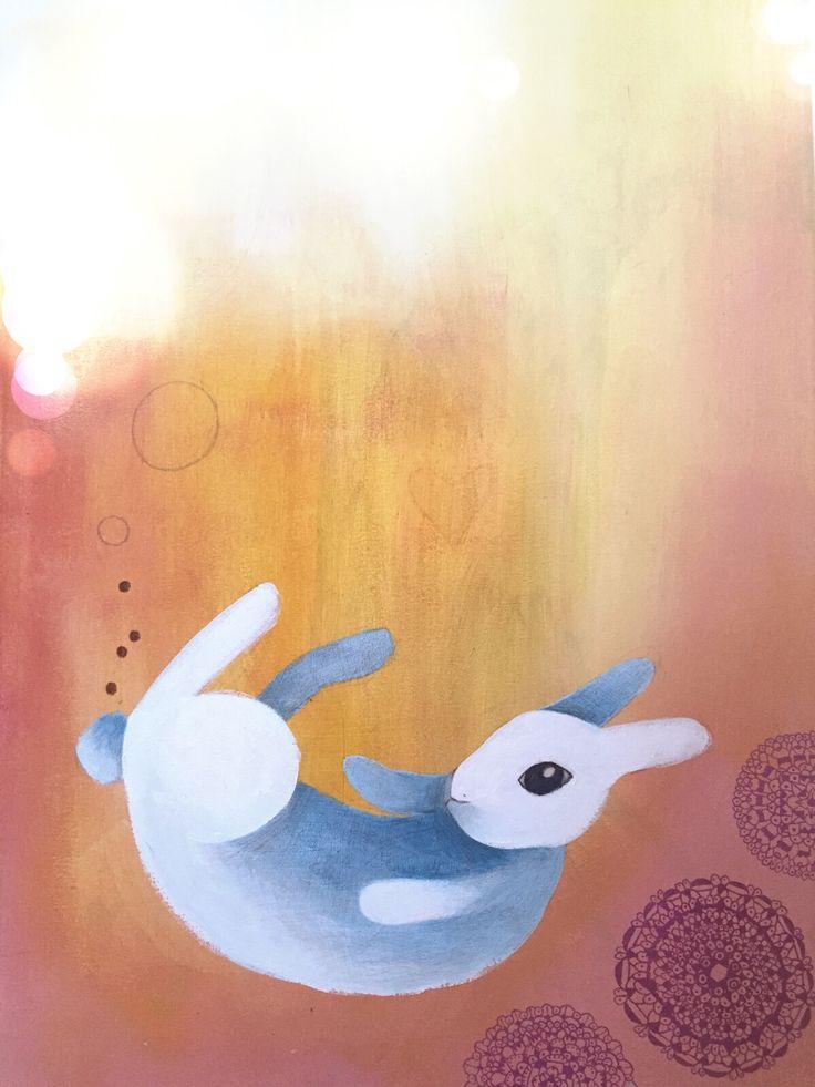 #rabbit #coniglio #acrylic #canvas monica gnosca