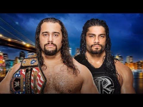 WWE 25July 2017 Roman Reigns vs Rusev Full Match Roman Reigns Best Punch