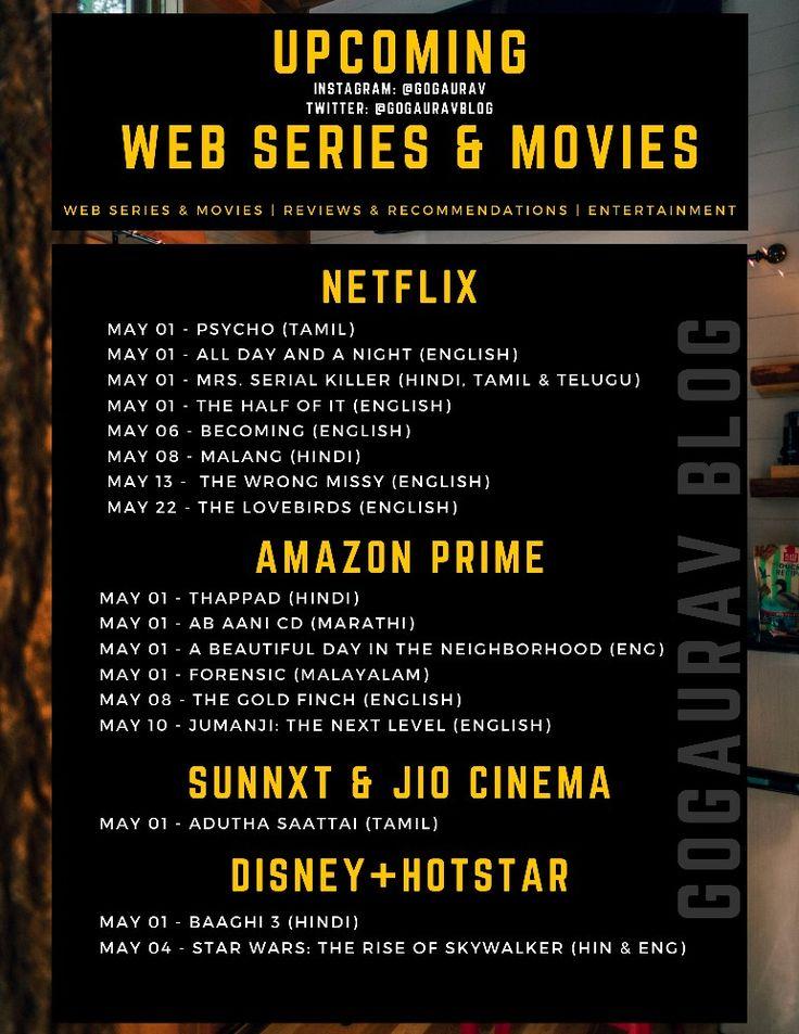 May 2020 Web Series Movies in 2020 Web series