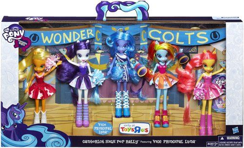 My Little Pony Equestria Girls Canterlot High Pep Rally Collection with exclusive Vice Principal Luna doll