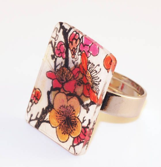 Shrink plastic + markers = cute jewelry!
