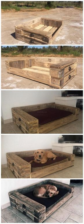 Pallet Dog bed - Tap the pin for the most adorable pawtastic fur baby apparel! You'll love the dog clothes and cat clothes! <3