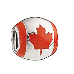 Camilia Bead - Canadian Flag.