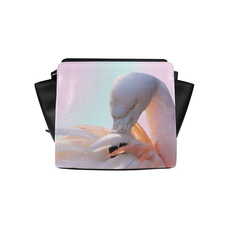 Pink Flamingo Pink Satchel Bag. FREE Shipping. #artsadd #bags #flamingos