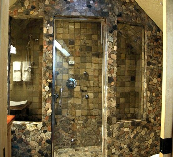 Stone Bathroom Designs 45 best stone tile backsplash suggestions images on pinterest