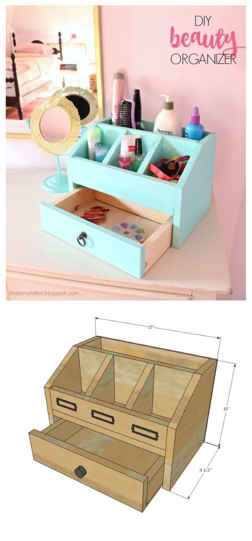 DIY Beauty Organizer / Desktop Organizer - Jaime Costiglio  Diy