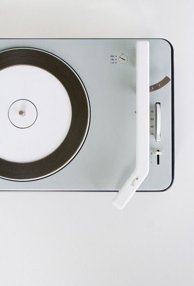 "design-is-fine:  "" Dieter Rams & Gerd Müller, Braun PCS 4 record player, 1961. Germany. Via flickr.  """