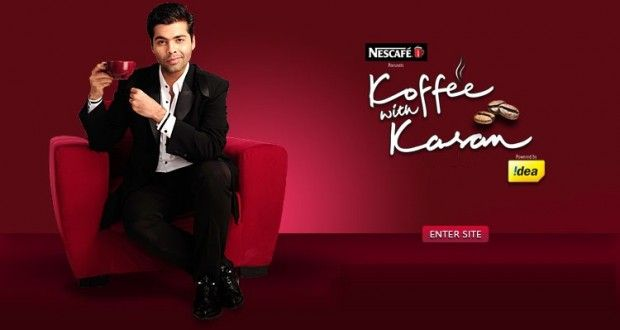 """The famous gossip maker on Indian Television, Karan Johar is back with his celebrity chat show """"Koffee with Karan season 4""""."""