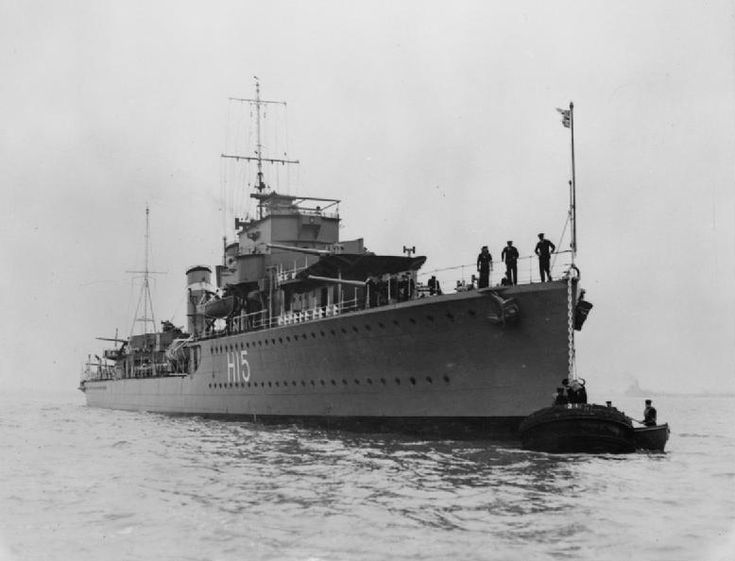 HMS Esk (H15) was an E-class destroyer built for the British Royal Navy in the early 1930's. She was designed to be easily converted into a fast minelayer by removing some guns and her torpedo tubes.