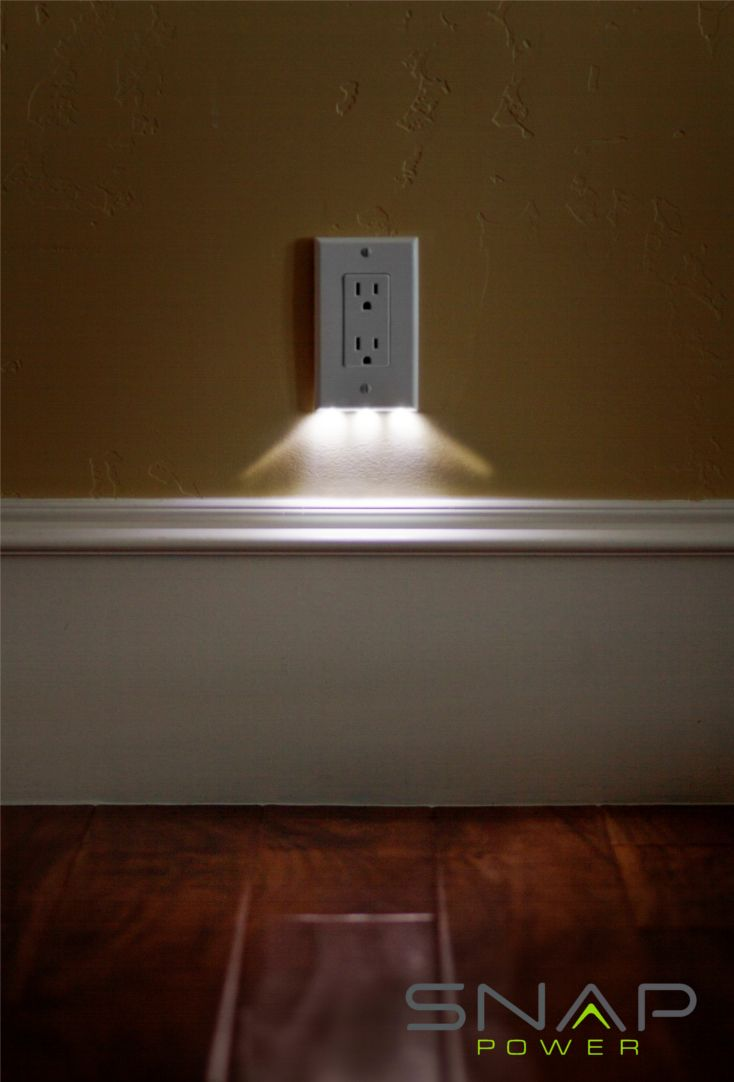 The SnapRays is an outlet coverplate with nightlights built right in. Simple to install and looks great!