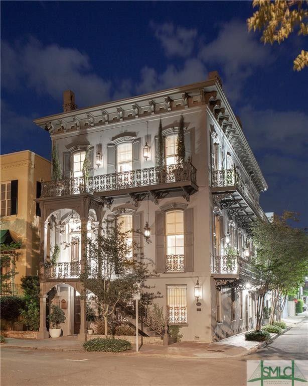 130 Habersham St Savannah Ga 31401 Savannah Chat Terrace Building Historic Mansion