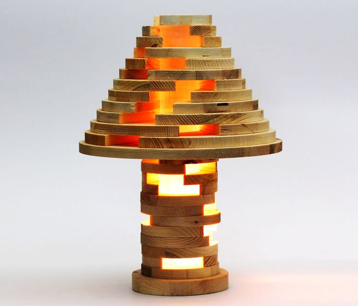 Diy Shape Shifting Lamp That You Can Flip Swirl And Arrange However You Want Wooden Lamps Design Wooden Lamp Wooden Diy