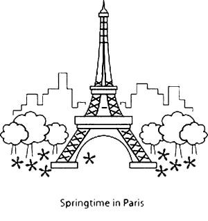 eiffel tower coloring pages - Paris Eiffel Tower Coloring Pages