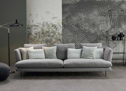 Bonaldo Lars Sofa Designed By Giuseppe Vigano. Discreet Metal Feet,  Contemporary Elegance.