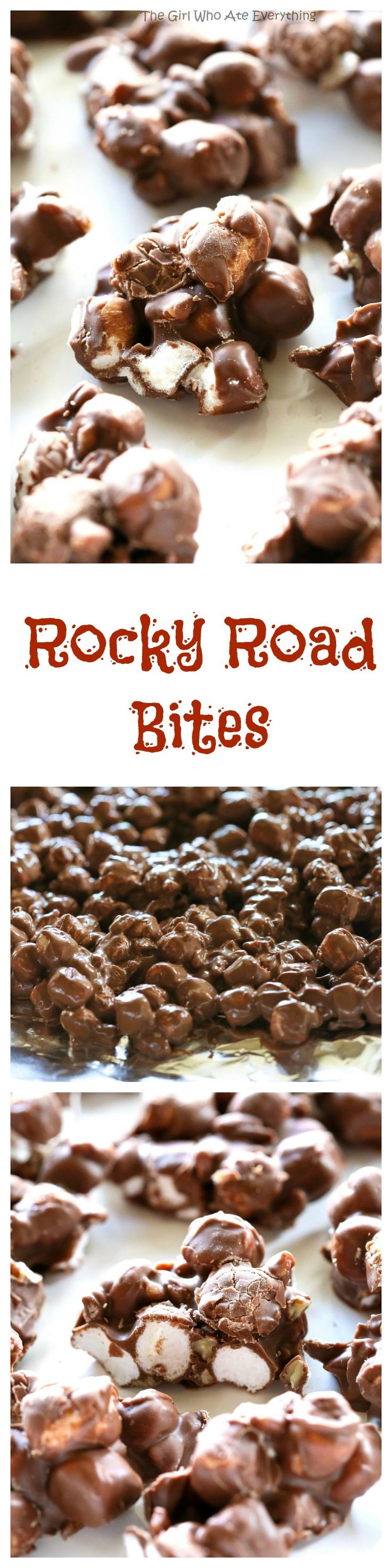Rocky Road Bites - only 3 ingredients in this tasty treat.