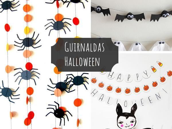 Manualidades Halloween: guirnaldas