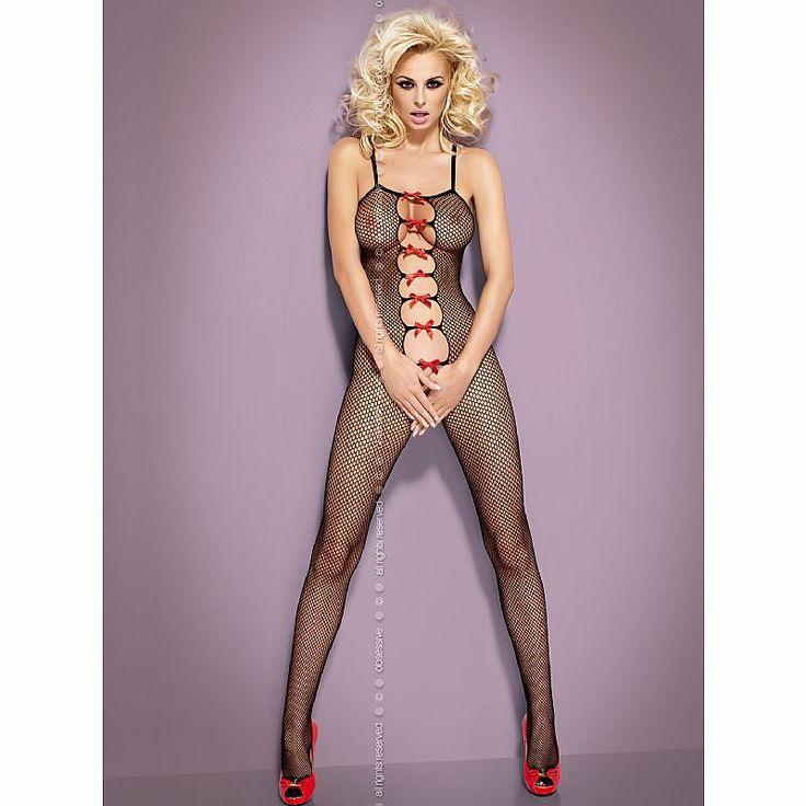 Con este body de cuerpo entero, con abertura frontal y espalda, te convertirás en la mujer más deseada y sexy. Bodystocking decorado con lazos rojos, disfruta de la dulzura y el erotismo  http://www.lamanzanadeeva.com/bodystocking/1383-body-de-cuerpo-entero-n-107.html Este Bodystoking y muchos mas los podrás encontrar en www.lamanzanadeeva.com