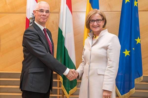 Niederösterreich: LH Mikl-Leitner und Ungarns Minister Balog bei Generalversammlung des Instituts für den Donauraum und Mitteleuropa (IDM)