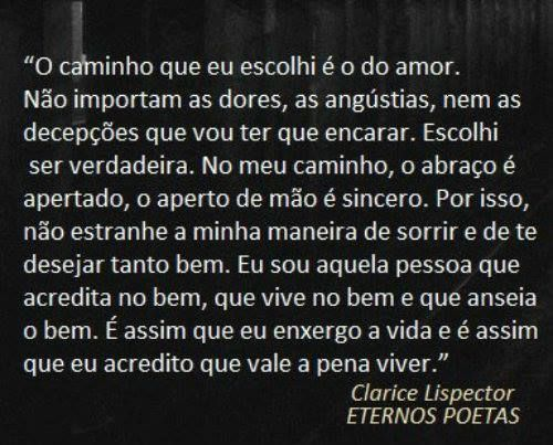Clarice Lispector Frases Que Me Falam Pinterest Amor