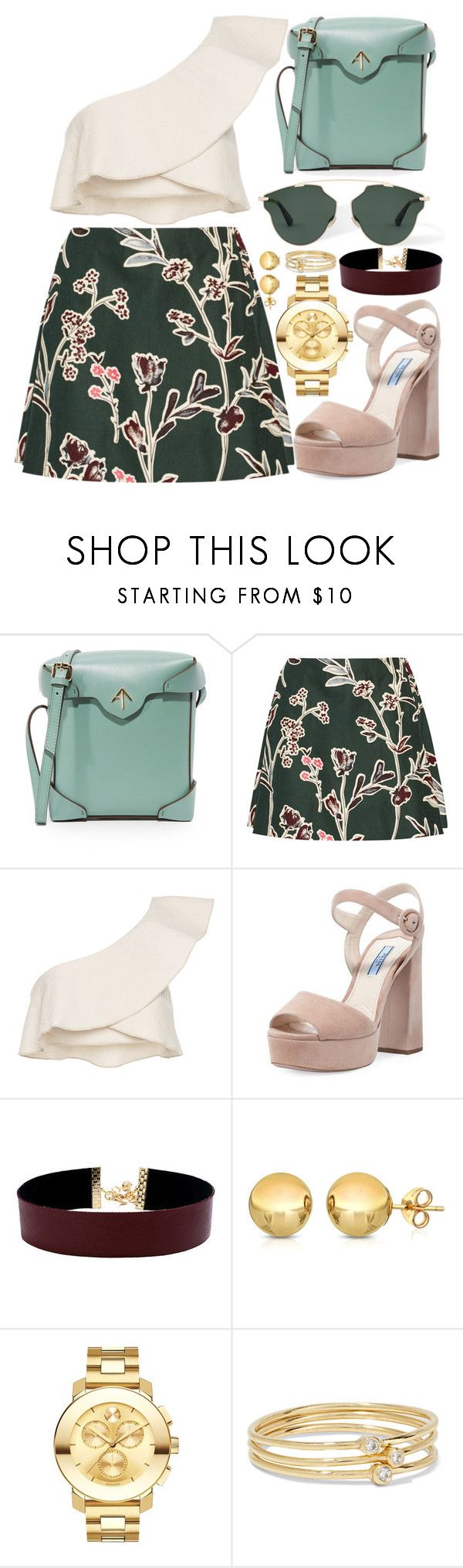"""Burgundy Blooms - Spring's Dark Side"" by rita8100 ❤ liked on Polyvore featuring MANU Atelier, Marni, Isabel Marant, Prada, Vanessa Mooney, Movado and Jennifer Meyer Jewelry"