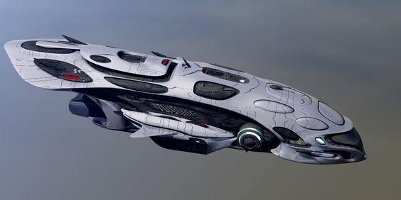 3d spaceship fantasy model