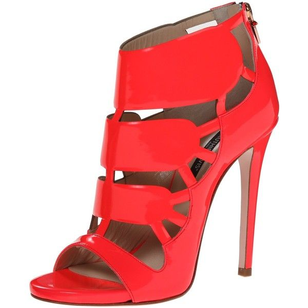 Ruthie Davis Women's Life Gladiator Sandal ($379) ❤ liked on Polyvore featuring shoes, sandals, gladiator stilettos, heels stilettos, high heels stilettos, cutout sandals and cut out gladiator sandals