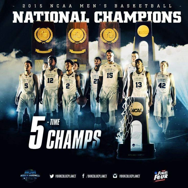 2015 National Champions - DUKE - 5 TIME CHAMPS