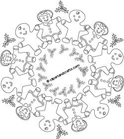 printable christmas mandala coloring pages - photo#22