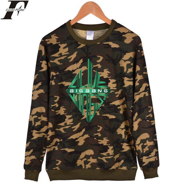 LUCKYFRIDAYF Bigbang Camouflage Sweatshirt Women Cotton Autumn Popular Bigbang Women Hoodies Sweatshirts Fashion Hip Hop Clothes #Brand #LUCKYFRIDAYF #sweaters #women_clothing #stylish_dresses #style #fashion