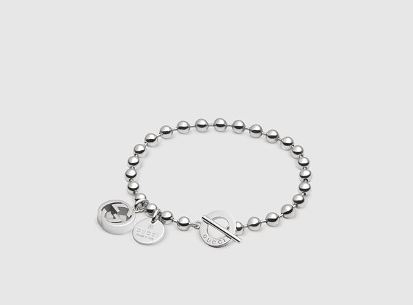 Gucci - bracelet in silver with boule chain and charms 390954J84000702