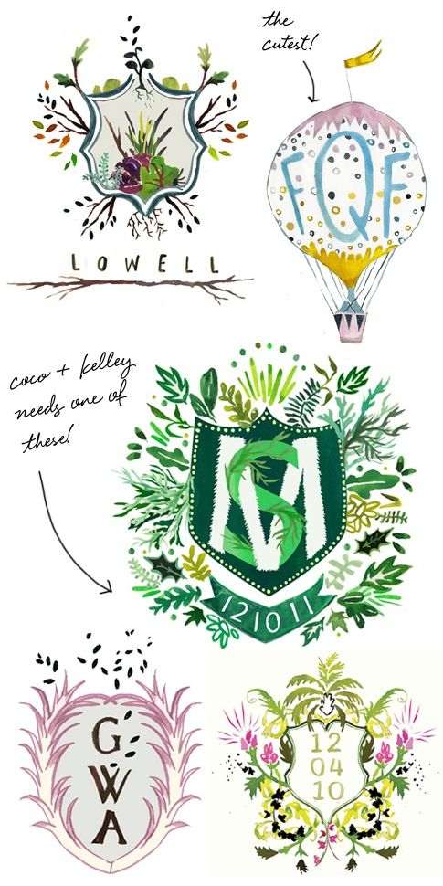 How amazing is this custom heraldry for a wedding?