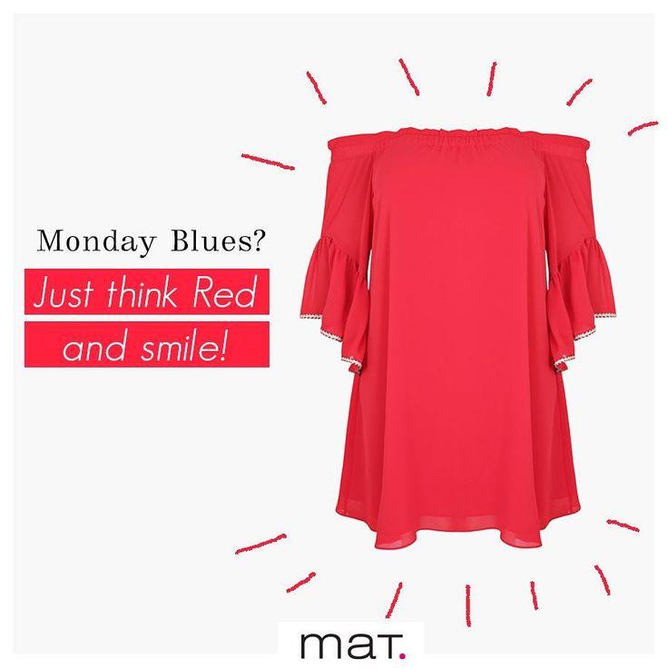 Ανέβασε την διάθεση σου ξεκινώντας την εβδομάδα σου με χρώμα! Το κόκκινο #matfashion μπλουζοφόρεμα με τις ρομαντικές πτυχώσεις & το θηλυκό off-the-shoulder κόψιμο θα σε οπλίσει με την ανάλαφρη διάθεση που έχεις ανάγκη την πρώτη μέρα της εβδομάδας! Ανακάλυψε το ➲ code: 671.7428 #ss17 #collection #monday #inspiration #instafashion #ootd #red #style #plussizefashion #psblogger #mondaymotivation #realsize #fashion