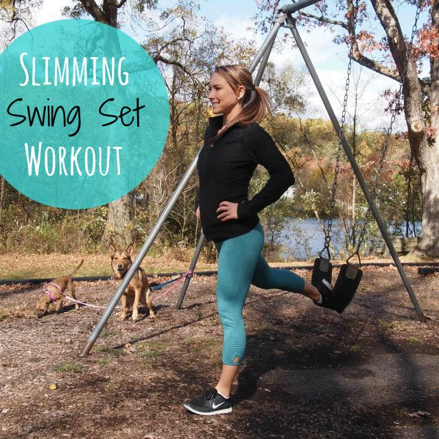 Get ready for some FUN! This total body Swing Set Workout will get you toned and strong - plus you'll feel just like a kid again on the swing set!