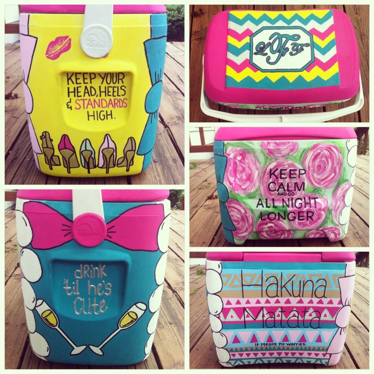 Painted Cooler | Gamma Phi Beta