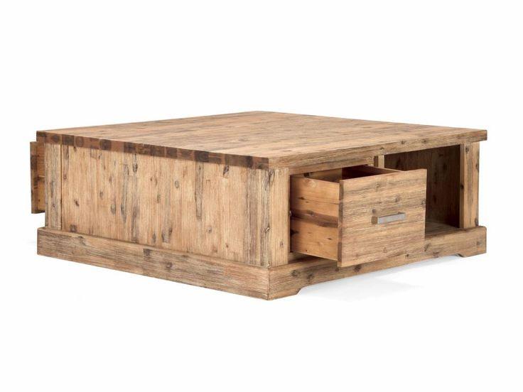Couchtisch Massiv Holz Akazie Mit Schublade