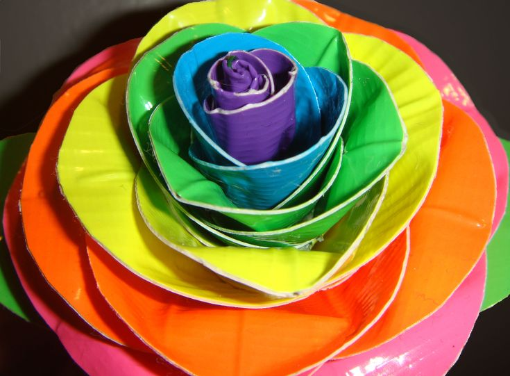 Neon Duct Tape Rose...