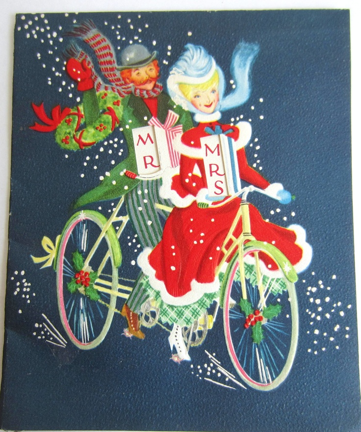 Old Fashioned Holiday Bicycle For Two