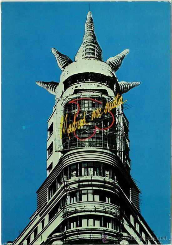 POSTAL SERIE MADRID ME MATA FOTOGRAFIA JUAN RAMON YUSTE 1983