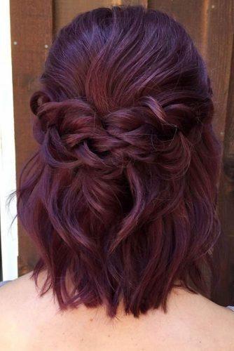 Hochzeit Haar Half-Up-Ideen ★ Hochzeit Haar zur Hälfte gefegt auf kurzen Haaren texturiert …   – Wedding hair
