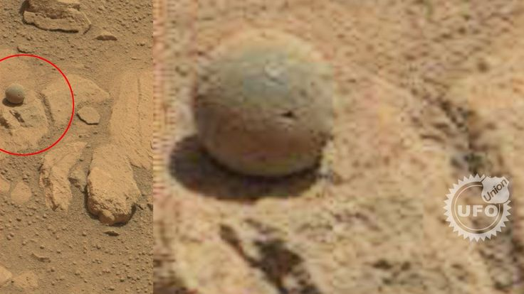 Breaking news : Ball and Shiny object discovered on Mars by Curiosity Rover