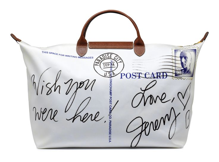 "Le Pliage ""Post Card"" - Collaboration with Jeremy Scott. back view. Longchamp Collection SS 2012"