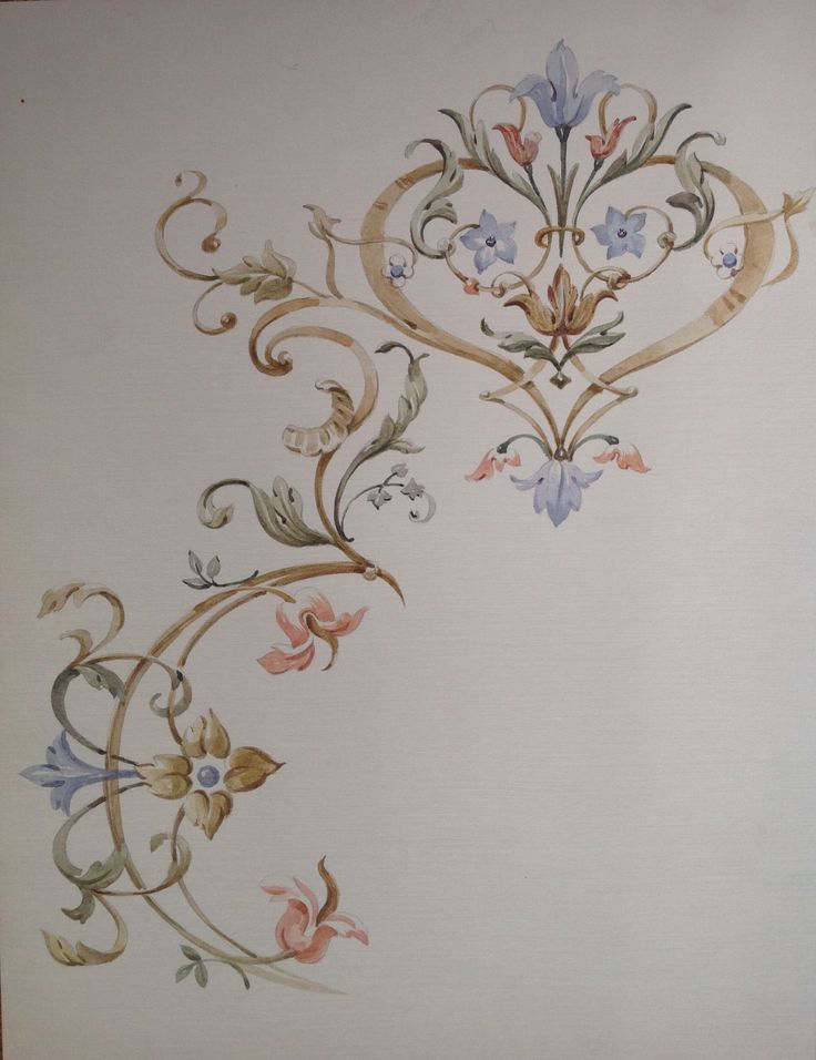 Sketch. Design for a ceiling, by Svetlana Egorova.