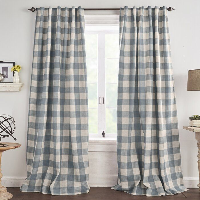 Laurel Foundry Modern Farmhouse Conor Plaid Blackout Thermal Single Curtain Panel Reviews Wayfair In 2020 Panel Curtains Drapes Curtains Insulated Curtains