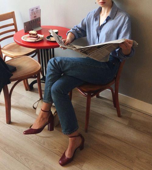 thekidsalooker: & Other Stories blouse, vintage Levi's 501,...