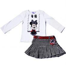 Set fusta-bluza Minnie - alb/negru/rosu