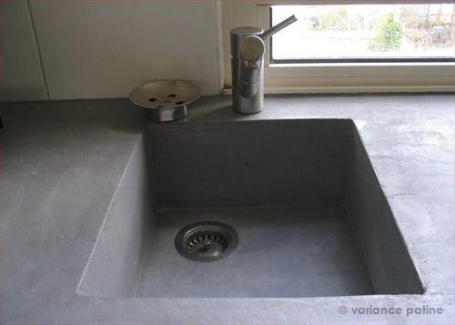Wasbak beton cire, putje midden achter lijktnme mooier