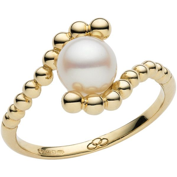 Links of London Effervescence White Mini Pearl Ring (£350) found on Polyvore