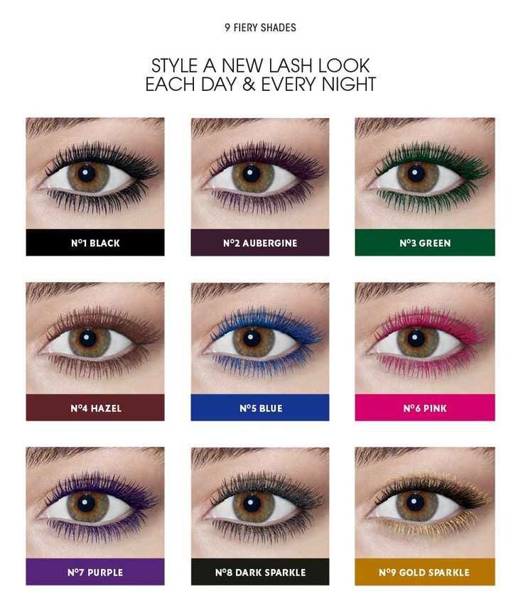 I really want to try the gold, purple, and black sparkly ones!!! Mascara Vinyl Couture to Lengthen & Volumize with High Impact Color | YSL #allinawink #ysl #colormascara